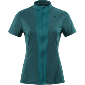 SQUARE Performance Trikot kurzarm Damen petrol